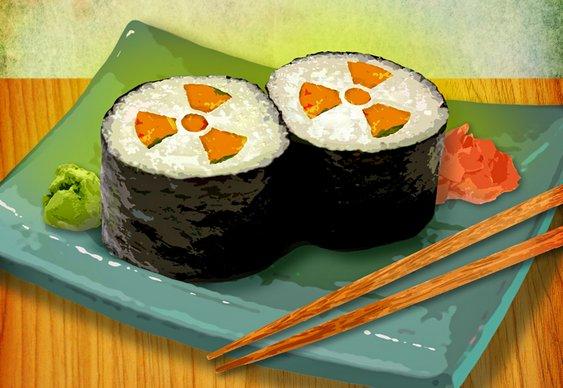 Radiotividade em peixes no Japão