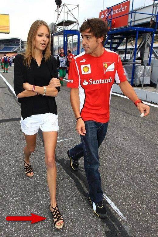 Namorada de Fernando Alonso
