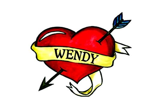 Tatuagem com nome Wendy