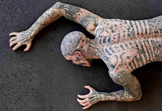 Tatuagem de Esqueleto