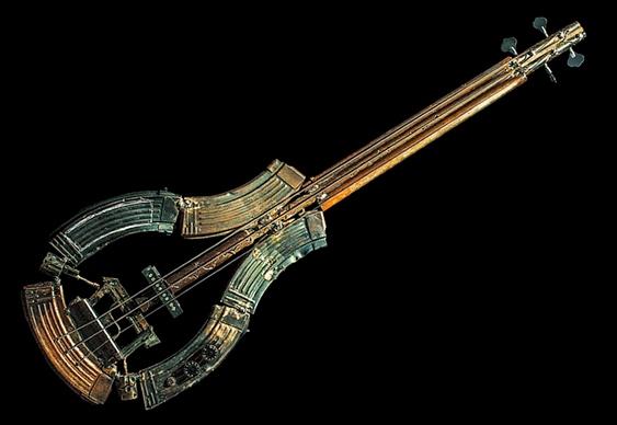 Armas de fogo recicladas como arte