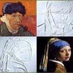 Ferros de passar roupa recriam em lençóis obras de mestres da pintura