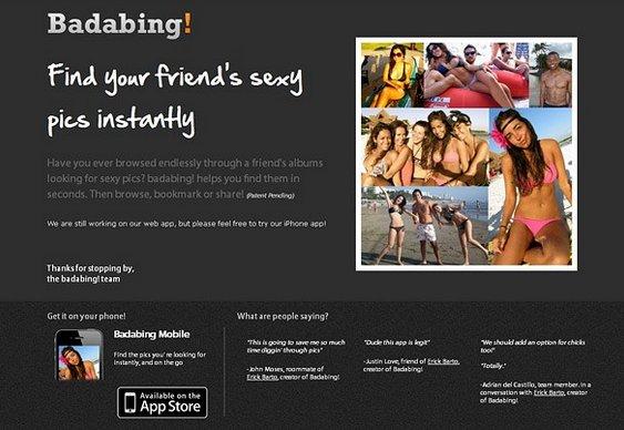 Amigos pelados na rede social