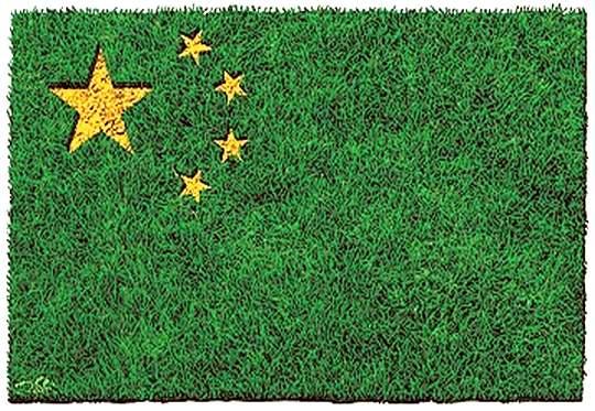 Bandeira da China ecológica