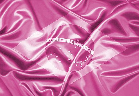 Brasil - bandeira cor-de-rosa