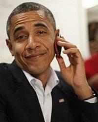 Obama com celular