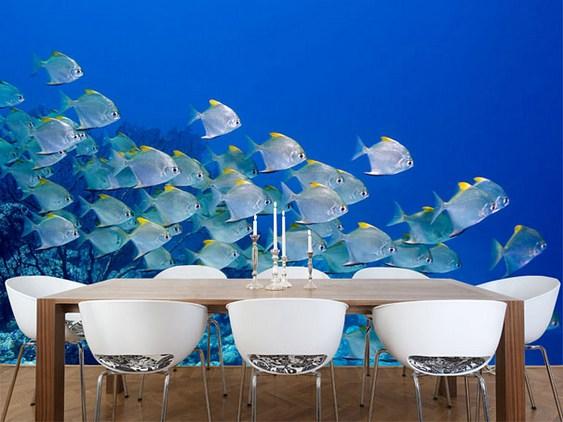 Papel de parede - tema marinho