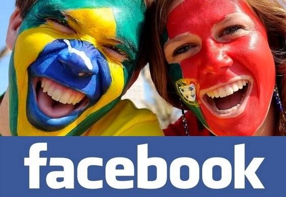 Línguas mais usadas na rede social