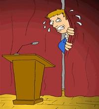 Medo de ter de fazer discursos