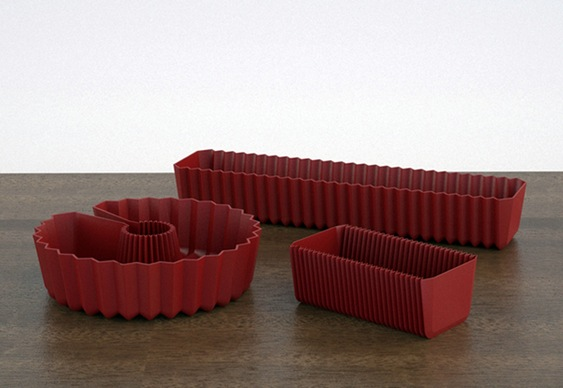 Forma de bolo de plástico