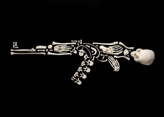 Fuzil com Esqueleto