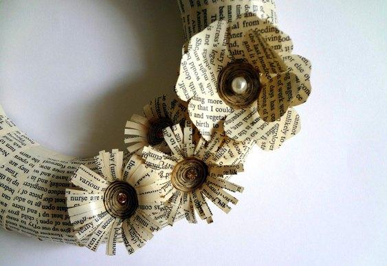 Guirlanda de papel reciclado