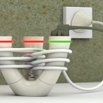 A energia do design iraniano em extensão para tomadas elétricas