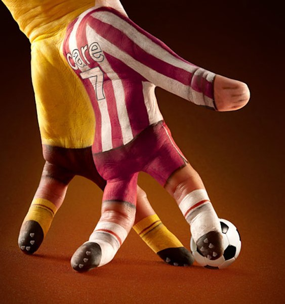 Futebol com mãos e dedos
