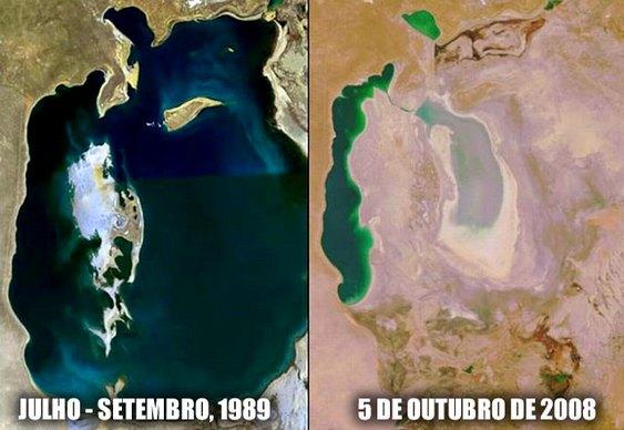 Lago que está morrendo