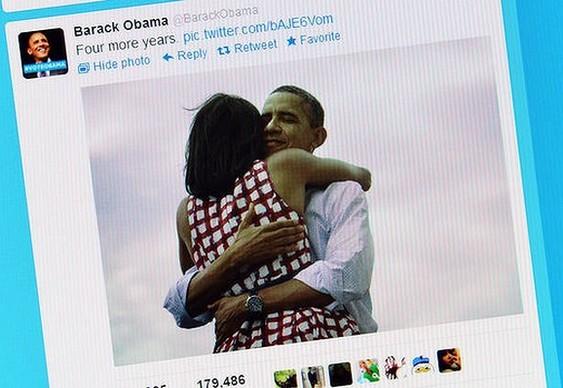 Obama - campeão de tweets