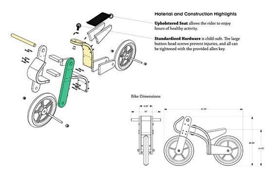 Design de bicicleta de madeira