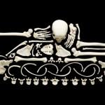 Ossos humanos são armas de guerra em apelo contra a violência