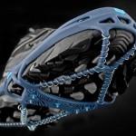 Yaktrax é o sistema All-Terrain para tênis, como pneus de jipes