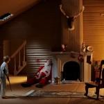 Garoto fuzila Papai Noel em cartão de Natal dark e provocador