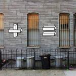Intervenção urbana vira 'aula de matemática' minimalista
