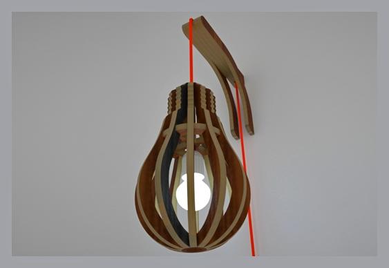 Design Abajur Reciclado