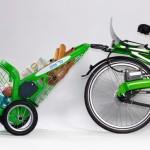 Reboque de aluguel para compras ou passeios de bicicleta