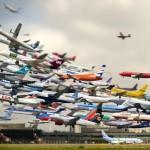 Vídeo com aterrissagem de 70 aviões em menos de 30 segundos