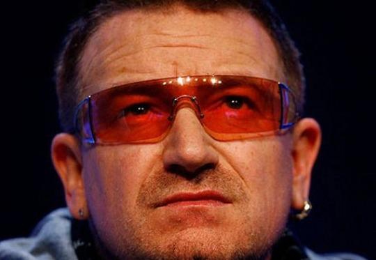 Bono - vista deteriorada pela fotofobia