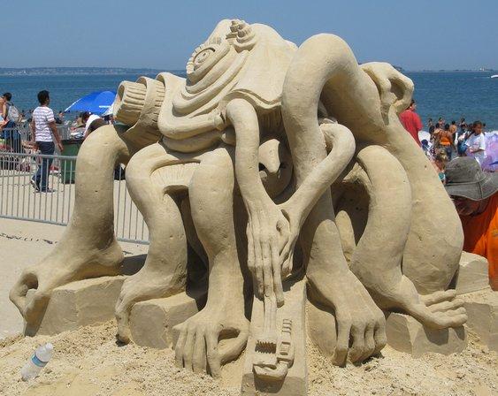 Concurso na praia