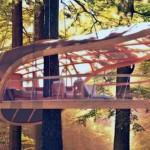 Um hotel ecológico com apartamentos pendurados nas árvores