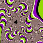 Uma ilusão de ótica do movimento como efeito colateral