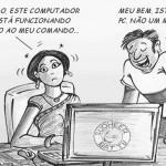 Mulher brasileira não consegue mais viver sem o computador