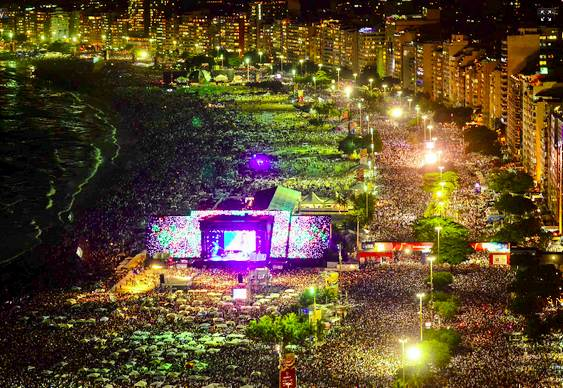 Festa em Copacabana no Rio