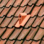Telha de cerâmica com forma de casinha com ninho para pássaros