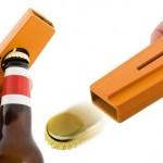 Abridor de garrafas Cap Zappa com lançador de tampinhas