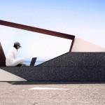 Novo conceito de design para bancos em espaços públicos