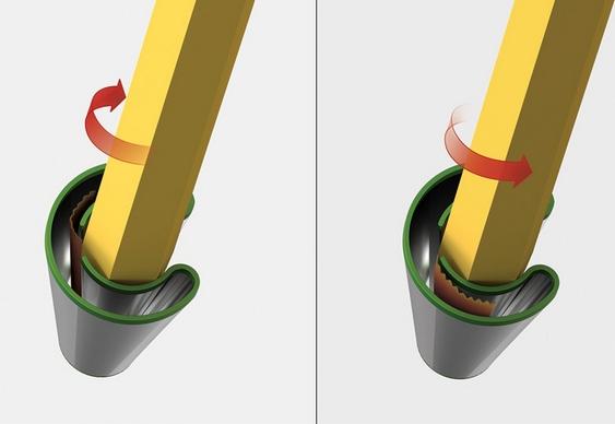 Apontador de lápis para os dois lados