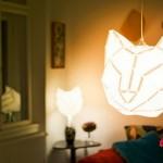 Cúpulas com cara de gato para luminárias de teto e abajures