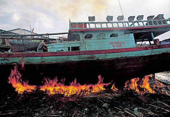 Manutenção de cascos de embarcações