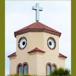 Ilusão de ótica deixa igreja com 'cara de galinha'