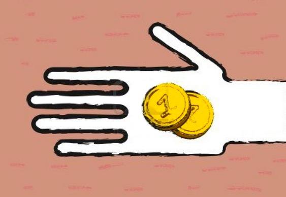 Mágica das moedas em copo de café