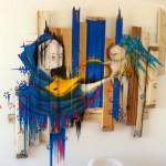 Telas com madeira velha reciclada formam painéis de luxo