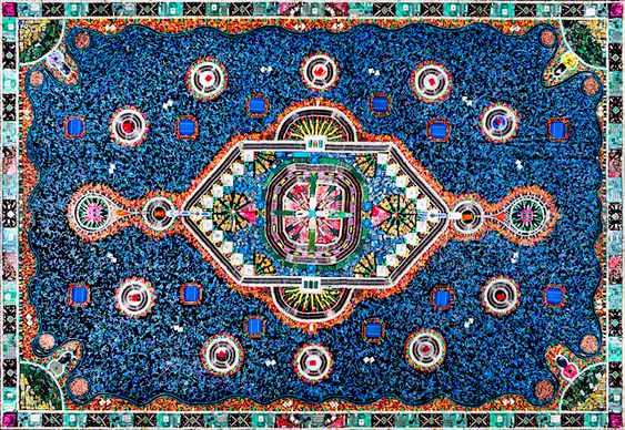 Imitação de tapete persa