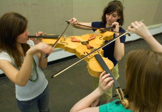Violino três em um