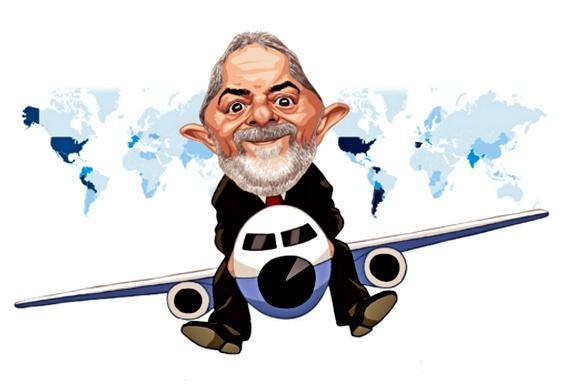Resultado de imagem para Lula viajando