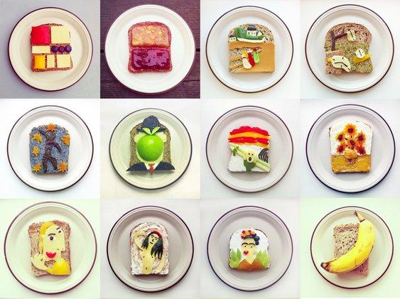 Sanduíches com arte