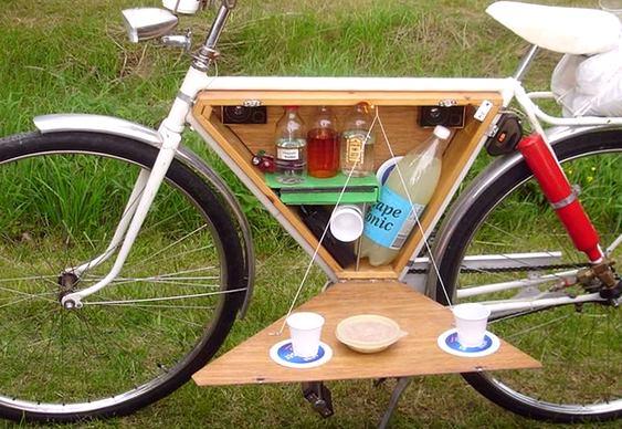 Bar móvel em bicicleta