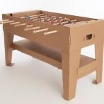 Mesa de papelão para jogo de futebol totó ou pebolim