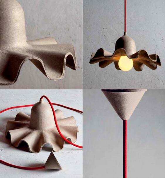 Luminária de papel reciclado